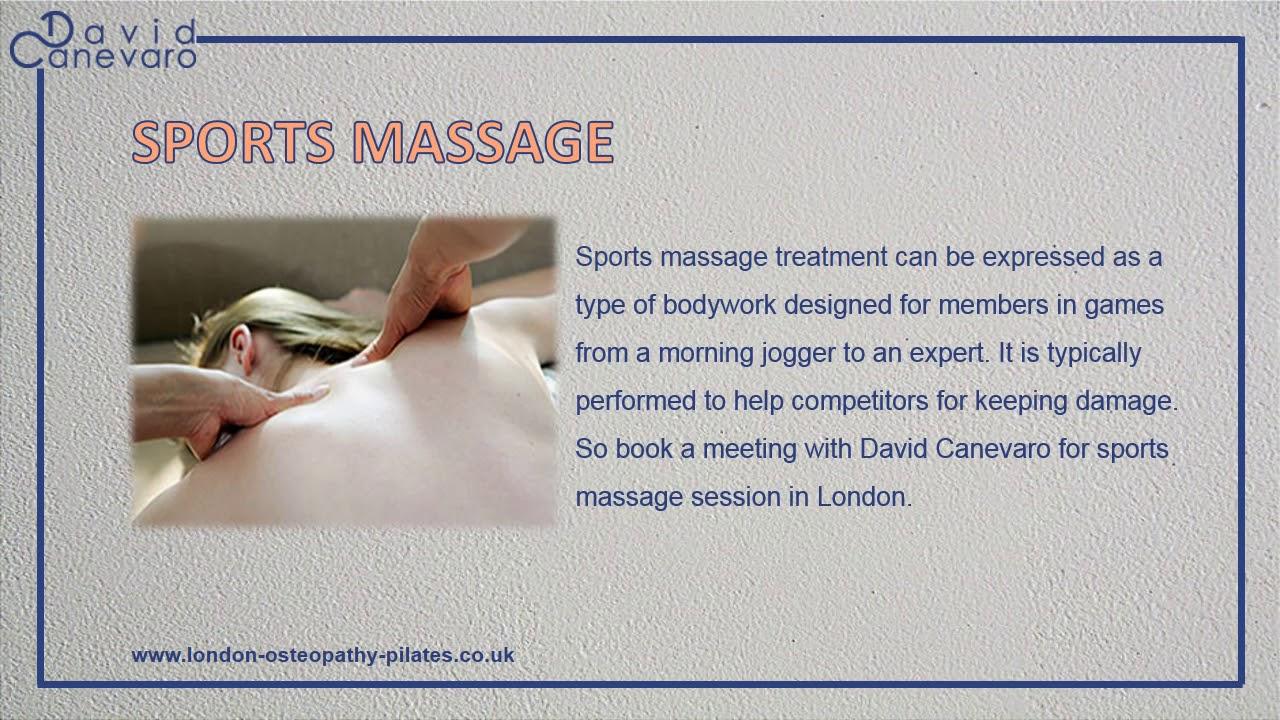 Best Sports Massage Therapy London London Osteopathy Youtube