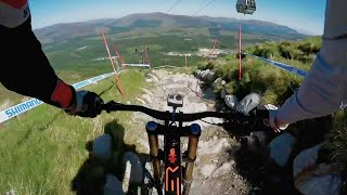 Claudio Caluori's GoPro Preview of the  2016 UCI MTB Fort William Track(Relive the downhill insanity from Fort William on Red Bull TV: http://win.gs/UCI2016FtWilliam Mountain biking's most talkative downhill rider is back at it again ..., 2016-06-04T19:10:51.000Z)
