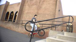 301 BMX - FSU - Bunny hop up a 5 stair then 360 down it