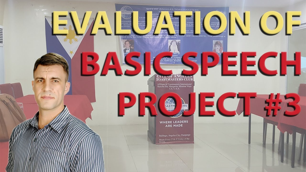 toastmasters evaluation of basic speech project 3 get to the point rh youtube com Sample Award Certificates Educational Programs