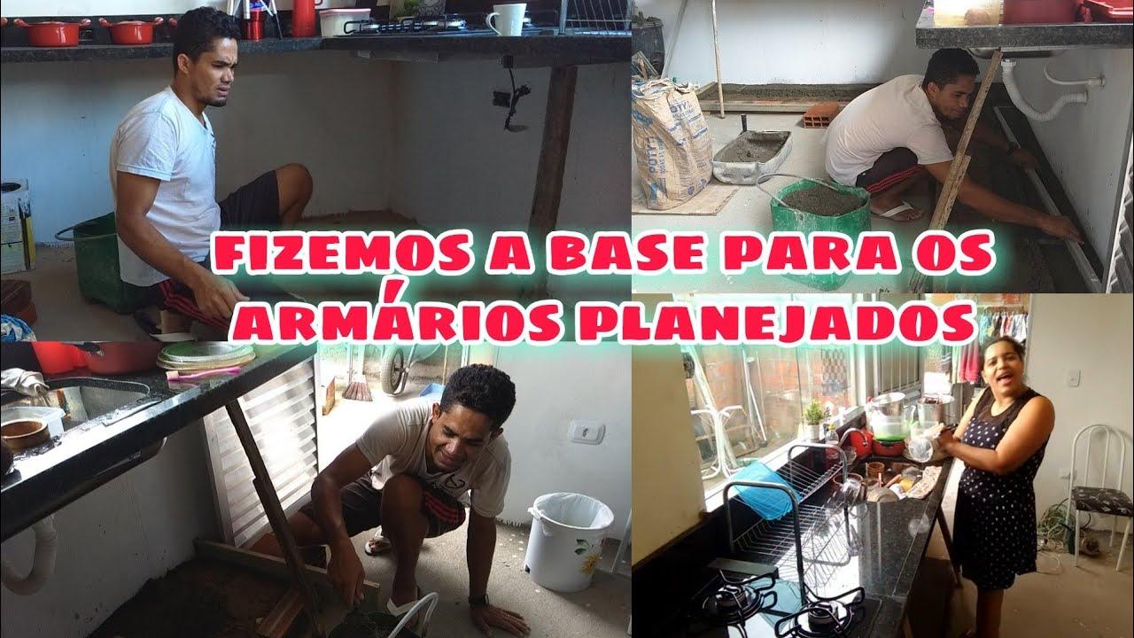FIZEMOS A BASE PARA ARMÁRIOS PLANEJADOS + FAZENDO COMIDA SIMPLES