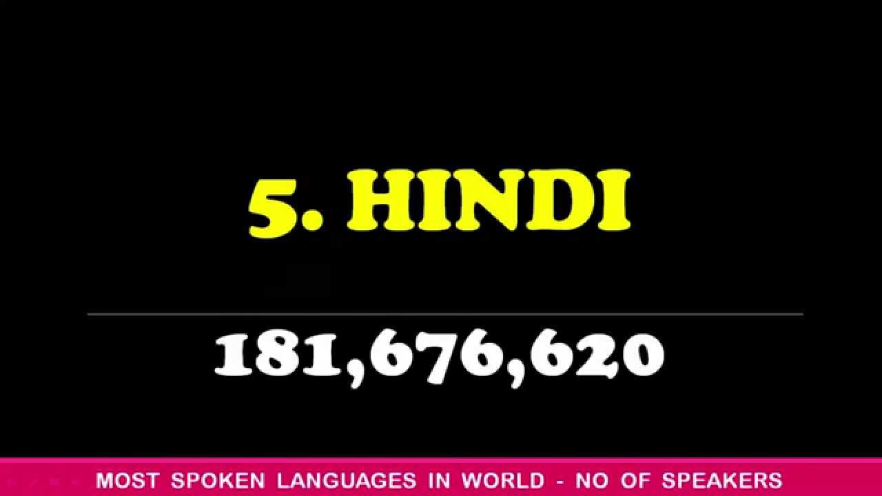 TOP MOST SPOKEN LANGUAGES OF THE WORLD NUMBER OF SPEAKERS - Top five languages spoken in the world