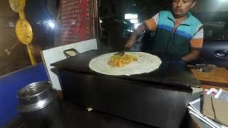 Как готовят масала досу. Индийский стритфуд.