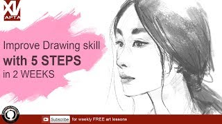 Improve your drawing in two weeks with 5 steps