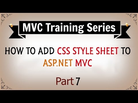 How To Add CSS Styles In ASP.NET MVC - Part 7