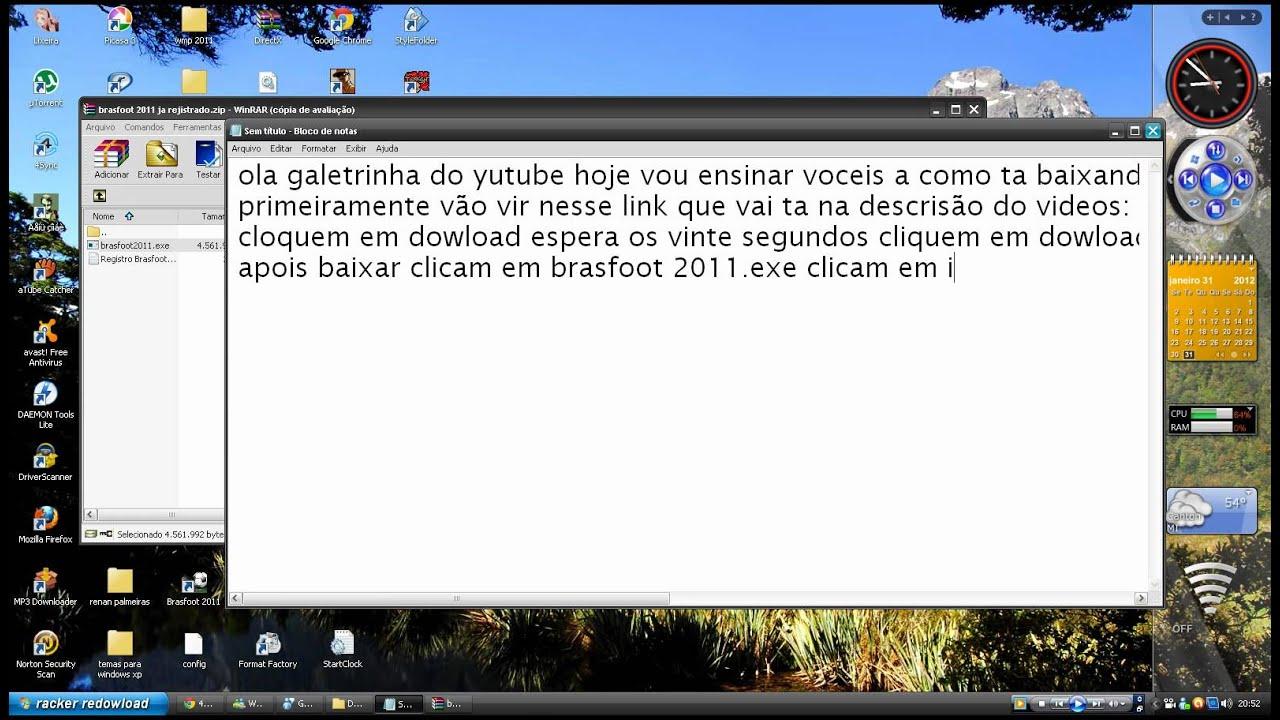 brasfoot 2011 ja registrado