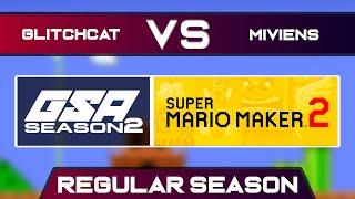 GlitchCat vs miviens | Regular Season | GSA SMM2 Endless Mode Speedrun League DA Season 2