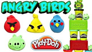Play Doh Angry Birds Smash 'n Build Games Playset Toy Review | Sweet Treats Playdough