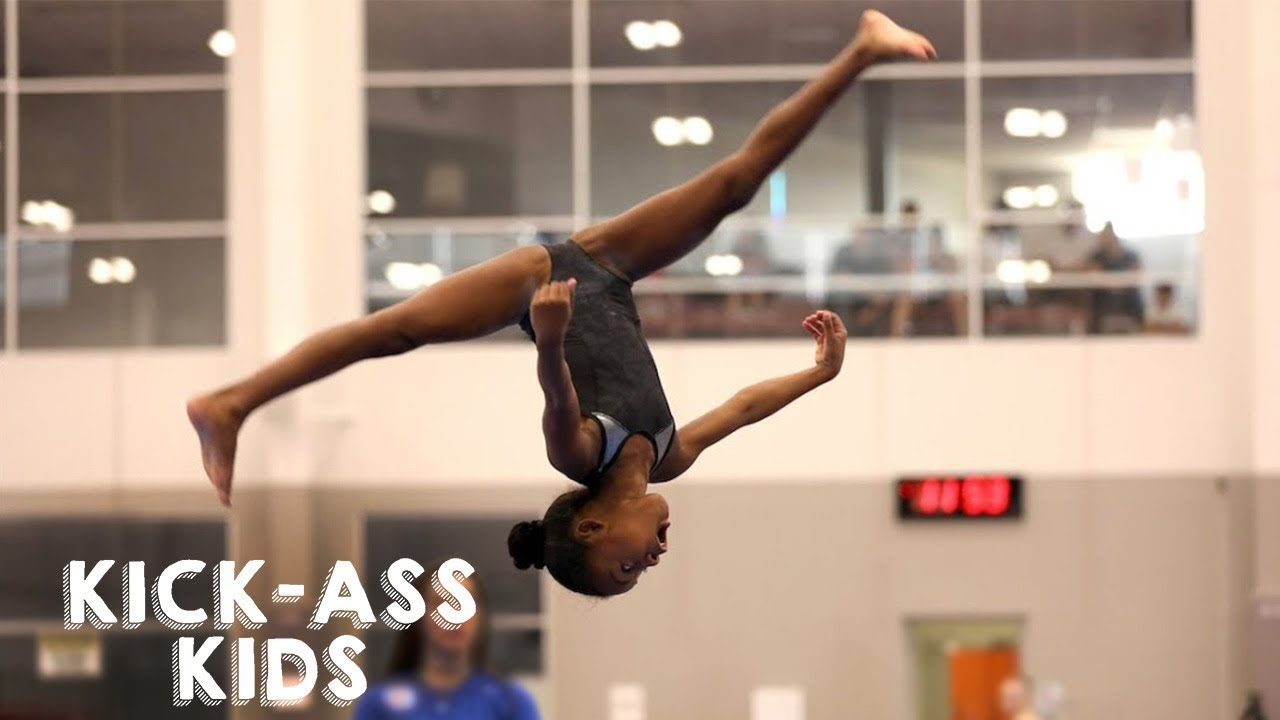 b920efafa0c 10 Year Old Gymnast Set To Become Olympic Star   KICK-ASS KIDS - YouTube