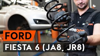 How to replace Top mount FORD FIESTA VI Tutorial