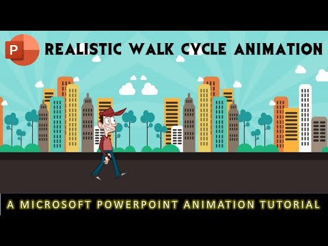 Realistic Animated Walk Cycle In Microsoft PowerPoint 2016 / 2019 Tutorial