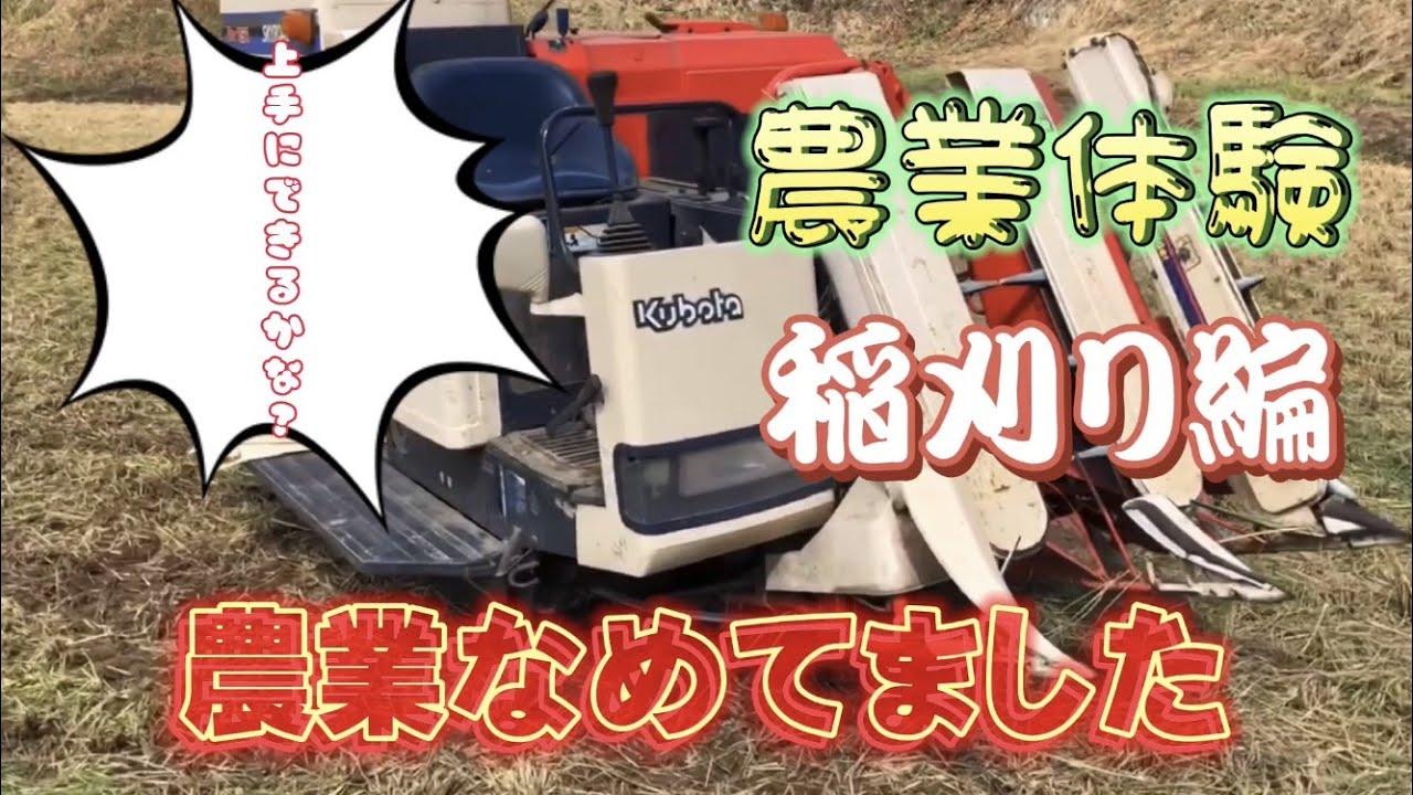 【稲刈り】【初心者】農業楽しい!!コンバインを使っての稲刈り体験してみた!