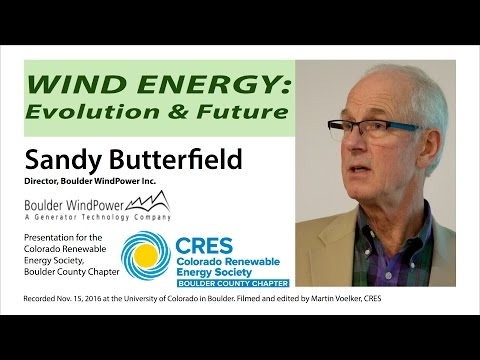 Wind Energy - Sandy Butterfield on its Evolution & Future