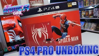 Marvel Spider-Man Limited Edition PlayStation 4 PS4 Pro Unboxing | Retro Gamer Girl