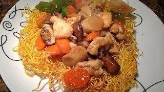 Chicken Pan Fried Noodles With Mixed Vegetables