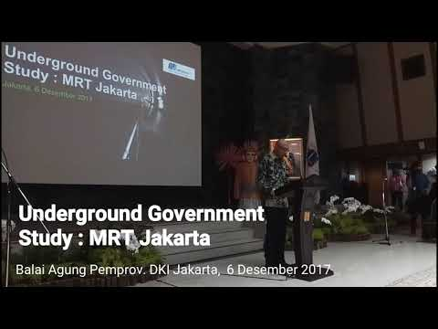 Underground Government Study MRT Jakarta