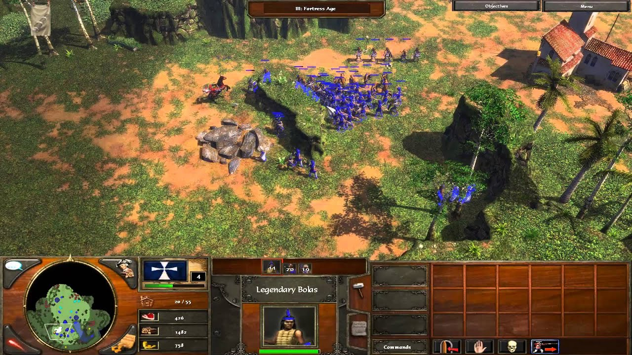 Age Of Empires 3 05 Temples Of The Aztec Walkthrough Pc Youtube