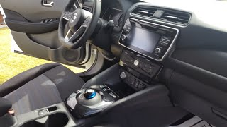 New 2018 Nissan Leaf Interior Review!!! Storage areas, controls and More!