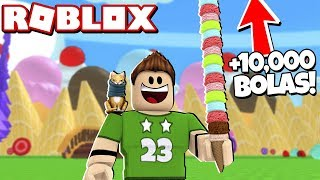 + 10,000 balls of ice cream CHALLENGE in ROBLOX!!