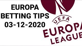 FOOTBALL PREDICTIONS TODAY   03/12/2020   UEFA EUROPA LEAGUE   BETTING TIPS   SOCCER PREDICTIONS