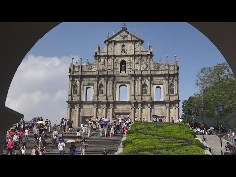 Historic Center of Macau, China in 4K (Ultra HD)