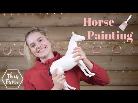 Painting a Horse for WorldHorseWelfare | This Esme