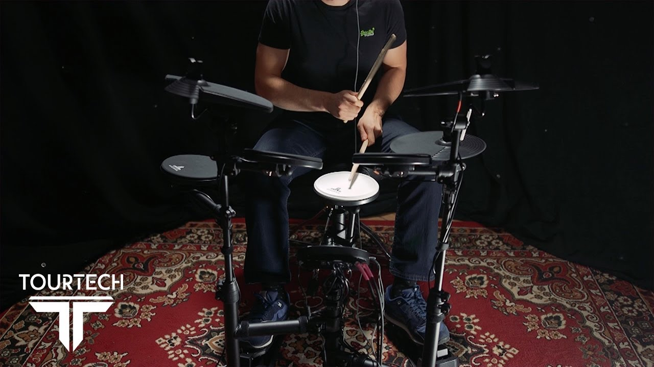 Tourtech TT-12S Electronic Drum Kit Bundle