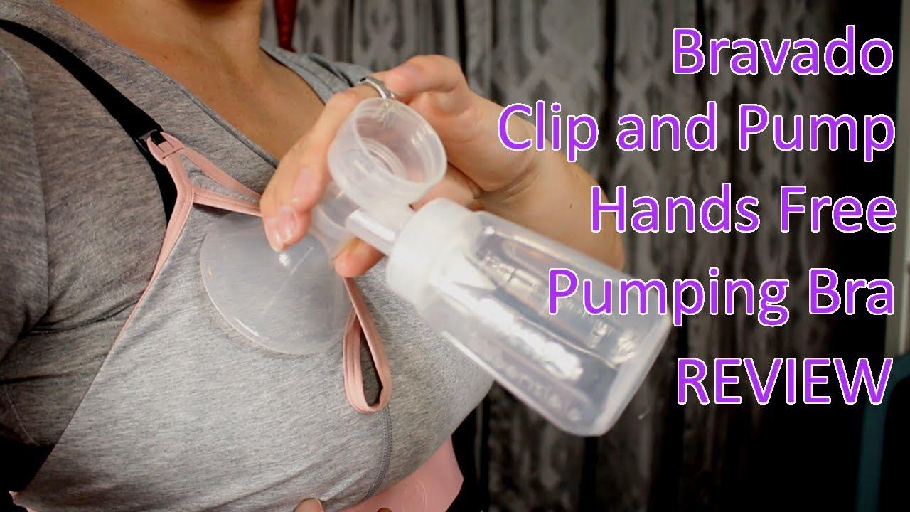 333259b417f82 Bravado Clip and Pump Hands Free Pumping Bra Review - YouTube