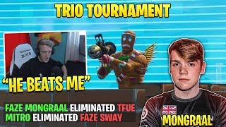 Tfue & FaZe Sway Gets *DESTROYED* by Mongraal & Mitr0 in Trio Tournament!