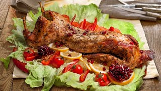 Как запечь кролика целиком - сочное мясо на праздничный стол