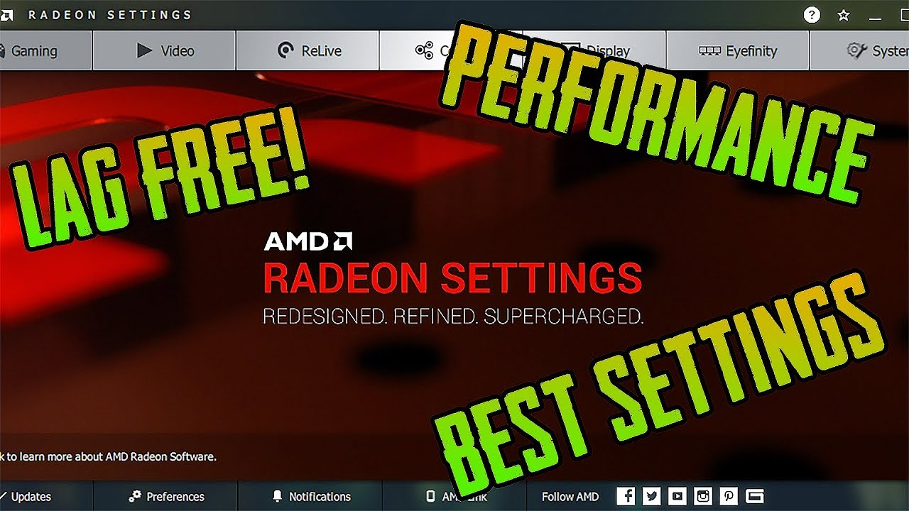 How to Optimize AMD Settings for GAMING & Performance 2018-2019 ULTIMATE  FINAL GUIDE