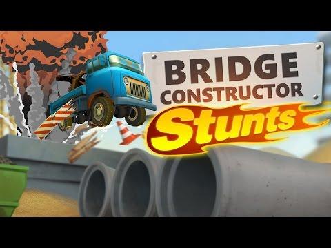 Bridge Constructor Stunts PC Gameplay - Michael Bay Simulator - Bridge Constructor Stunts Highlights