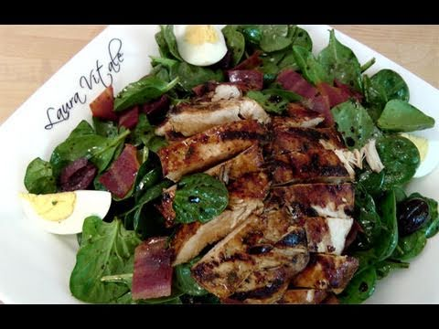 How to Make Spinach & Grilled Chicken Salad by Laura Vitale Laura in the Kitchen Ep 108
