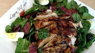 How To Make Spinach & Grilled Chicken Salad - By Laura Vitale - Laura In The Kitchen Ep 108