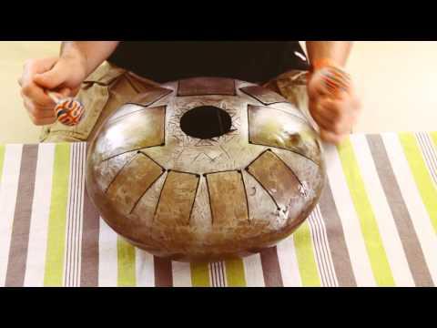 Handmade Steel Tongue Drum (vendu)