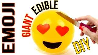 DIY Giant Edible Emoji - How To Make A Mountain Dew Gummy Emoji  - Fun & Easy DIY Tutorial