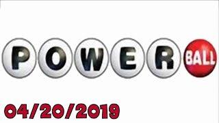 Powerball winning numbers - 04/20/2019