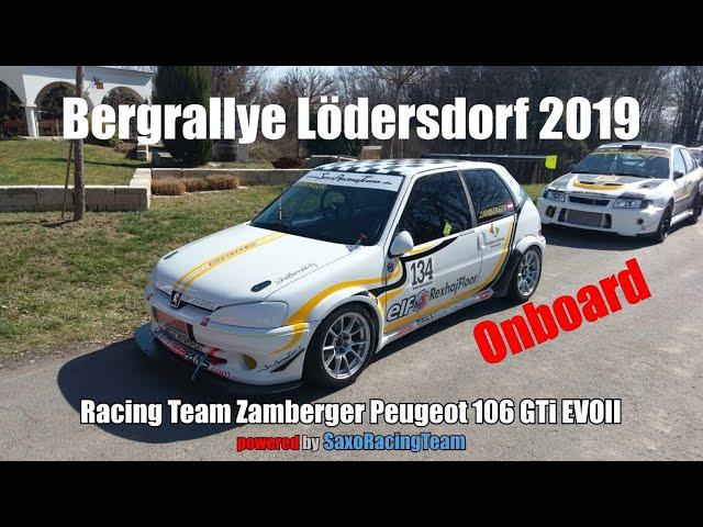 SRT - Bergrallye Lödersdorf 2019 - Martin Zamberger - Peugeot 106 GTi EVOII 1,6 16v - Onboard