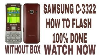 samsung c3322 How To Flash With Flash Loader