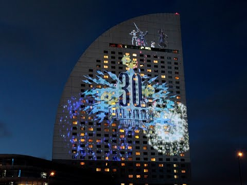 Final Fantasy Celebrates its 30 Years with a Projection Mapping in Yokohama