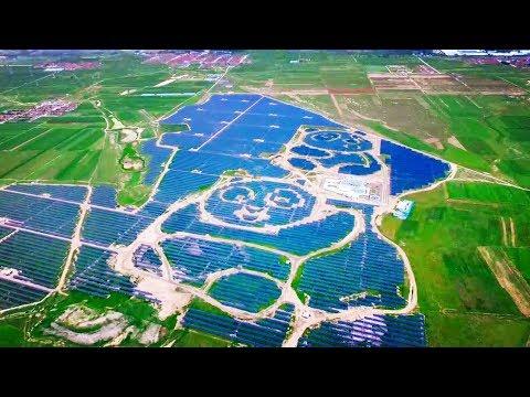 China Green Energy: Panda-shaped solar plant begins operating in Shanxi Province