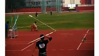 This is 80.04 Meter javelin throw of Neeraj Chopra in 2015 at All I...