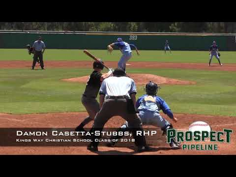Damon Casetta Stubbs Prospect Video, RHP, Kings Way Christian School Class of 2018