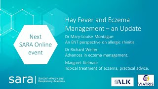 SARA - Hay Fever and Eczema Management - an Update
