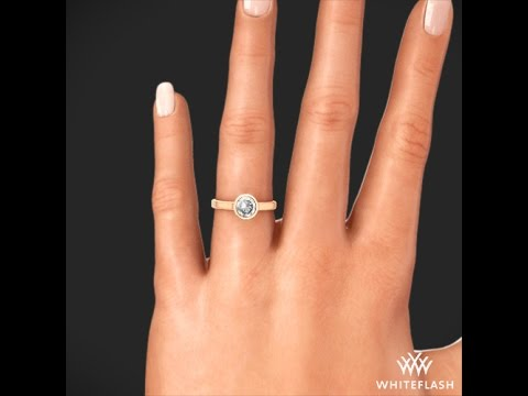 Cameron Solitaire Engagement Ring in Rose Gold on Hand