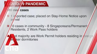 Singapore reports 188 new COVID-19 cases