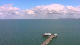 Woody Point Pier flyover with DJI Phantom 2 Vision+