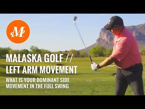 Malaska Golf // Left Arm Motion - Full Swing - Left hand vs. right hand