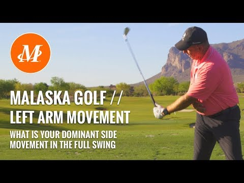 Malaska Golf // Left Arm Motion - Full Swing - Left hand vs  right hand