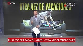 Macri, otra vez de vacaciones: Ya tuvo 120 días de descanso desde que asumió